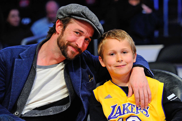 "Perhaps known best as Dr. John Trueman Carter III in ""ER,"" Wyle, and his son Owen, represented the host team well at Staples Center."