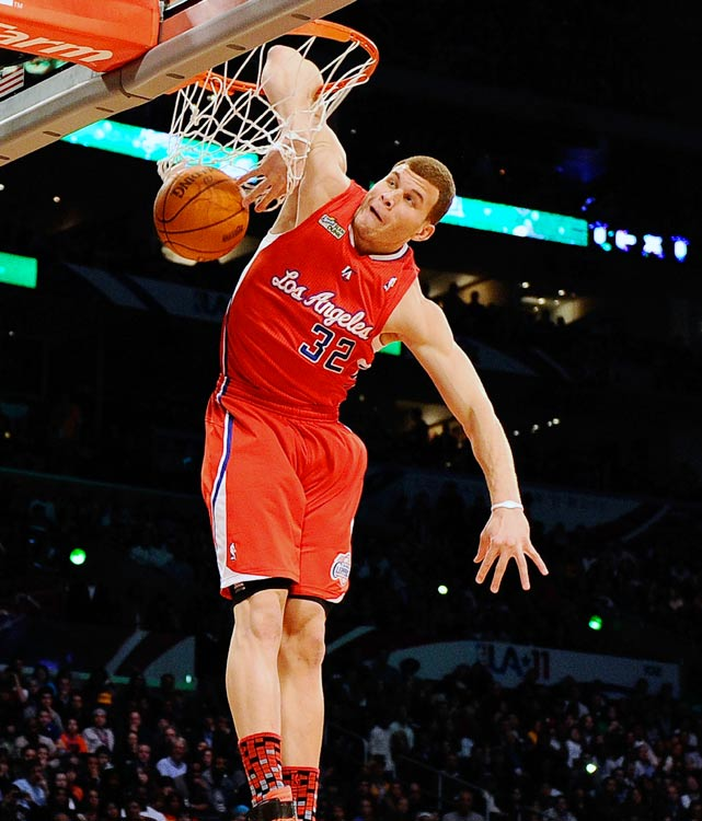 Griffin channelled his inner Vince Carter with this dunk, finishing with his elbow through the rim.