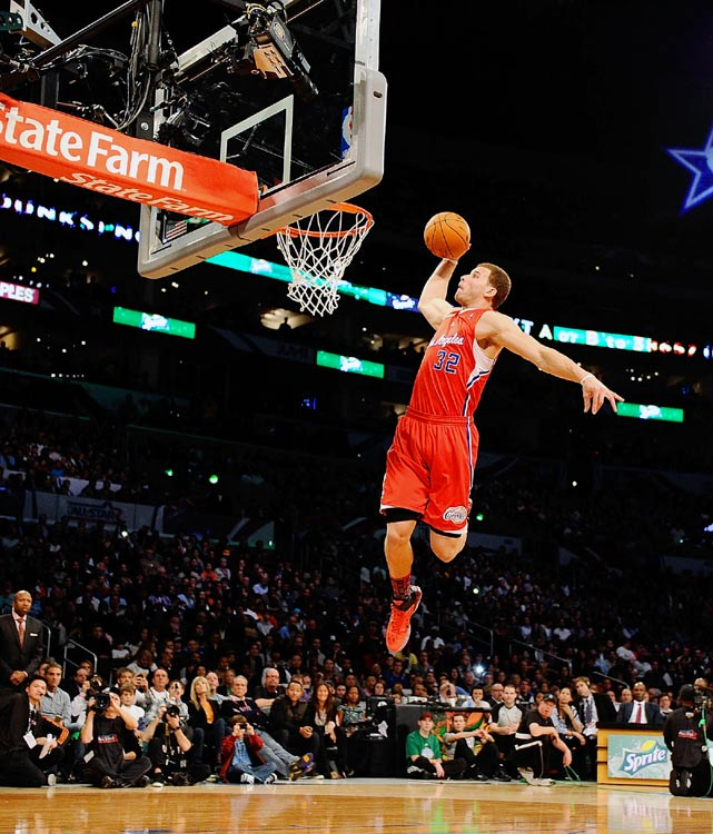 Griffin's combination of athleticism and power is displayed here in this high-flying slam.