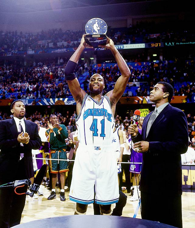 Glen Rice scored a NBA All-Star record 20 points in the third quarter, as the East overcame a 22-point first-half deficit to beat the West 132-120 in Cleveland.