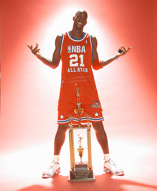 Though Michael Jordan, in his last All-Star appearance, was hitting turnaround jumper after turnaround jumper, it was Minnesota's Kevin Garnett who took over the show to lead the West to a 155-145 victory in double overtime. Garnett poured in 37 points, nine rebounds and five steals en route to earning the game's MVP honors.