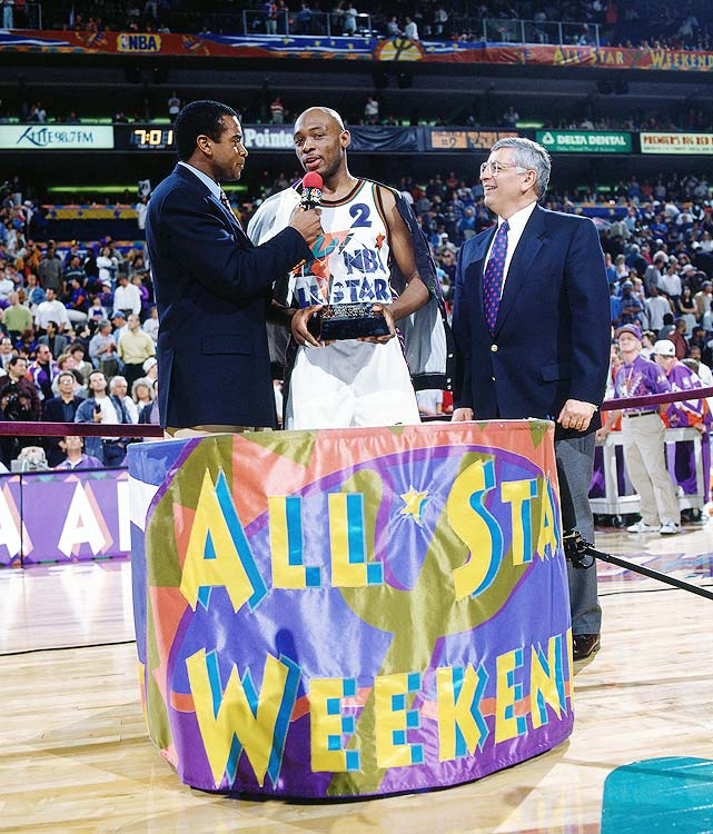 Appearing in only his third All-Star game, Mitch Richmond went on a tear, scoring a game-high 23 points in 22 minutes as the West cruised to an easy 139-112 victory over the East in Phoenix.