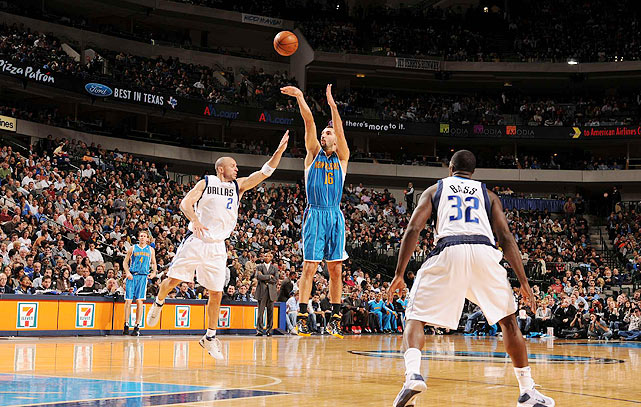 The sharp-shooting Serbian, now with the Mavericks, was selected by Sacramento with the 14th pick in the 1996 draft. A three-time All-Star, Stojakovic won back-to-back three-point shooting contests (2002, 2003) and has more than 1,700 career treys. He led the NBA with 240 triples in 2003-04.