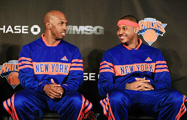Ending months of speculation, the Knicks completed a trade for Carmelo Anthony on Feb. 21. The deal netted the Knicks Anthony, Chauncey Billups, center Shelden Williams, forward Renaldo Balkman, guard Anthony Carter and forward Corey Brewer from the Minnesota Timberwolves.