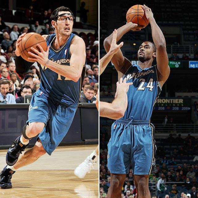The Atlanta Hawks went on the defensive, trading for point guard Kirk Hinrich and center Hilton Armstrong.  In return, they shipped veteran point guard Mike Bibby, guard Jordan Crawford, guard/forward Maurice Evans and their 2011 first-round pick to the Washington Wizards.