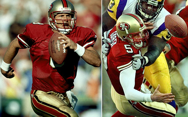 With Young setting career highs in passing yards and touchdowns, the '98 Niners extended the franchise's streak of seasons with at least 10 victories to 16. But Young suffered a concussion in the third game of '99, ending his career and hastening the transition to Jeff Garcia, who struggled that season but had San Francisco back in the playoffs two years later.