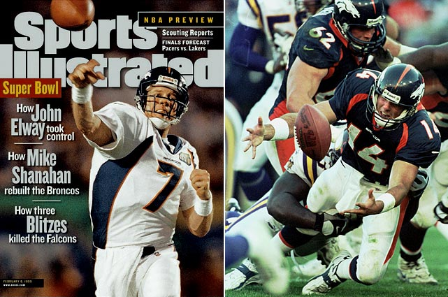 No secret to the eight-win decrease: John Elway retired after back-to-back Super Bowl victories (leaving Brian Griese to play quarterback) and Terrell Davis played only four games in '99 (though Olandis Gary was a solid fill-in) as the Broncos tumbled from second to 18th in scoring.