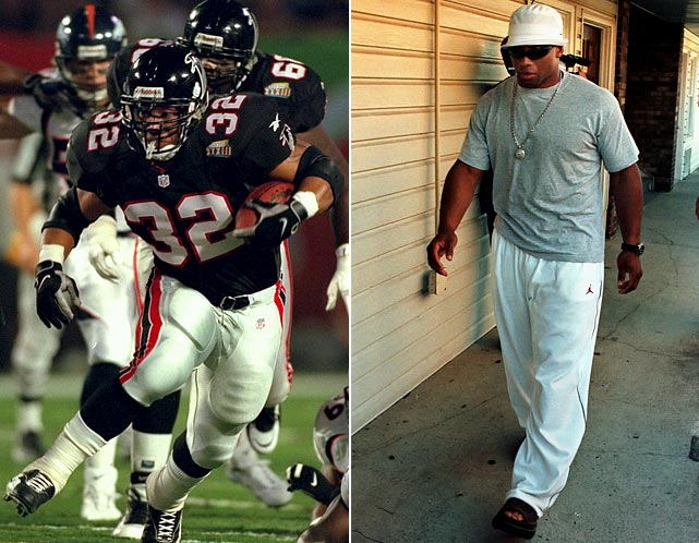 After rushing for an NFC-leading 1,846 yards and 14 touchdowns for the NFC champion Falcons in `98, Jamal Anderson played only two games in '99. Combined with injuries to quarterback Chris Chandler and a decline in defensive performance, the Falcons' point differential went from plus-153 to minus-95.
