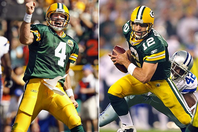 Not surprisingly, Green Bay slipped during the transition from Brett Favre to Aaron Rodgers -- but the rebuilding didn't take long. Rodgers subsequently guided the Packers to 10- and 11-win seasons, culminating in a victory at Super Bowl XLV.