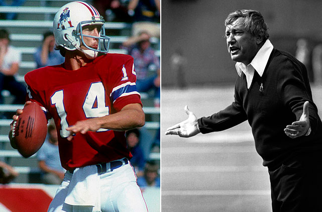 """The Patriots overcame Steve Grogan's 22 interceptions in 12 games to nearly make the playoffs in '80, but they bottomed out the following year with a four-game losing streak to start the season and a 10-game skid to end it. Coach Ron Erhardt, deemed """"too nice a guy"""" by ownership, was fired after the franchise's worst season."""