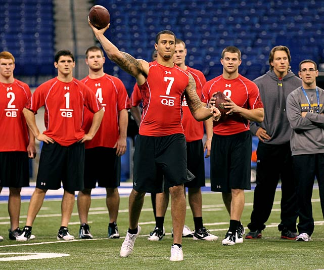 Kaepernick answered the call at the Senior Bowl and improved his draft stock by a full round. The combine will give him an opportunity to prove it was no fluke.