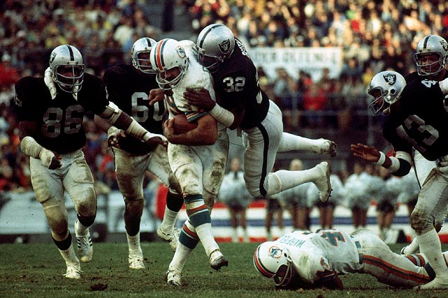 Oakland Raiders vs. Miami Dolphins Oakland, CA December 21, 1974