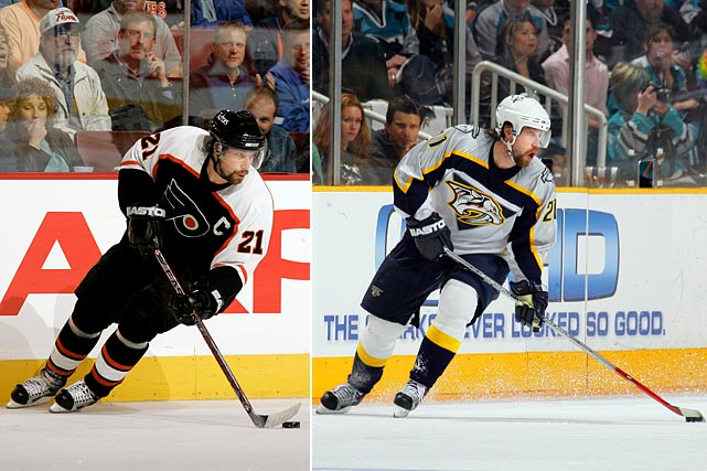 In September 2006, Forsberg was named captain of the Flyers, but the team struggled and he was eventually traded to Nashville for Ryan Parent, Scottie Upshall and 2007 first- and third-round draft picks. With the Predators, Forsberg scored four points in five playoff games against San Jose, but Nashville lost the first-round series.