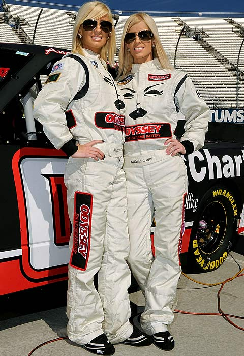 Angela and Amber Cope are NASCAR's first set of twins to compete in the same race in one of the sport's top-3 series. Inspired by their uncle and former Daytona 500 winner Derrike Cope, the twins made their Camping World Truck Series debut at Martinsville last fall.