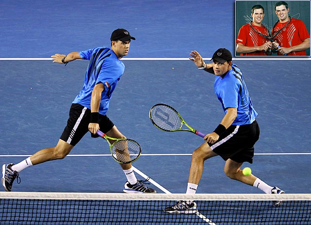 When opponents see double across the net during a double's match, they are usually in trouble. Doubles partners and twin brothers Bob and Mike Bryan were the world's top ranked doubles tandem for 201 weeks, have won a record 68 tour titles and were named the ATP team of the 2000's.