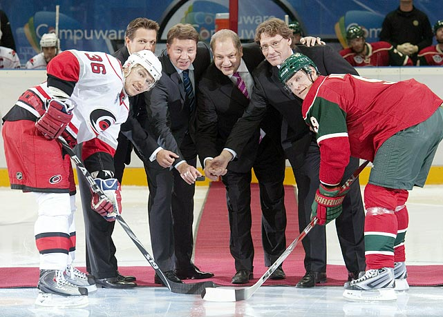 Born in Kalajoki, Finland, the Hurricanes-Wild game in Helsinki was a homecoming of sorts for Jussi Jokinen.  With over 30 of his friends and family in attendance, Jokinen did not disappoint, scoring in the second period during the Canes' 4-3 victory over the Wild.