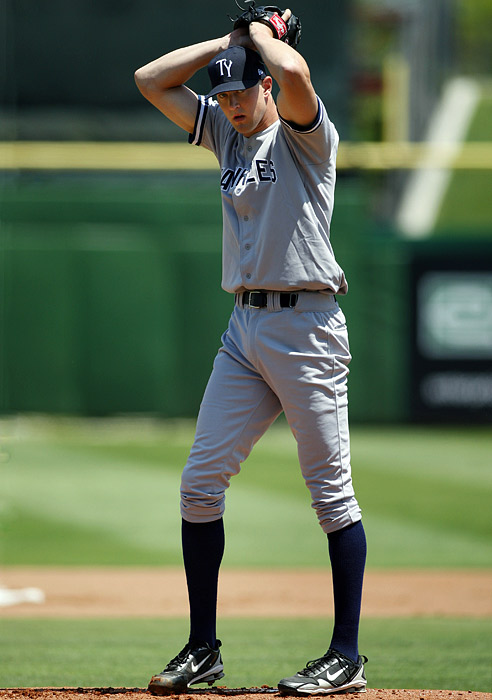 The Yankees took a chance in 2007 on 6-10 Andrew Brackman. The North Carolina State prospect played both basketball and baseball in college and was a highly touted pitcher before elbow injuries. New York still selected him with the 30th overall pick and he is currently in spring training vying for a spot in the rotation.