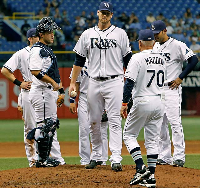 Jeff Niemann is one of the many promising young Tampa Bay Rays pitchers. The 6-9 starter had a terrific career at Rice and was drafted fourth overall by Tampa Bay in 2004. Niemann made his debut in 2008 and had a stellar rookie year in 2009 winning 13 games with a 3.94 ERA.