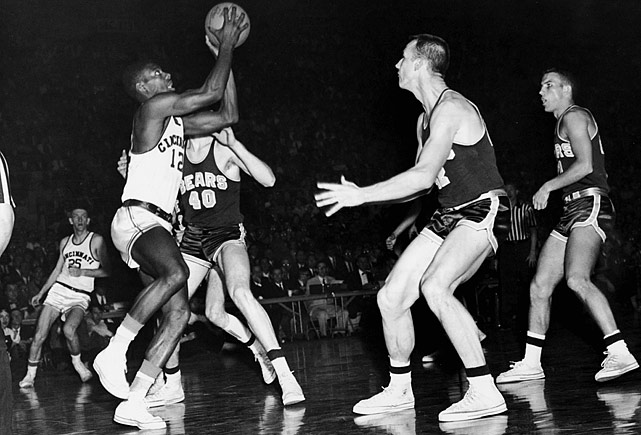 Oscar Robertson, the triple-double machine and the only player to average a triple-double for a season in the NBA, was fittingly the first person to record a triple-double in the tournament, doing so in 1959. In the 98-85 Final Four victory over Louisville, Robertson led Cincinnati with 39 points, 17 rebounds and 10 assists.