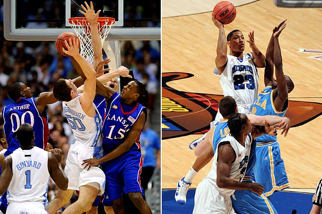 The joy of filling out a March Madness bracket is picking upsets and pinning hopes on Cinderella squads. Rarely is the favorite in each region rewarded. But in 2008, for the first time in tournament history, all four number ones -- Kansas, North Carolina, Memphis and UCLA -- advanced to the Final Four.