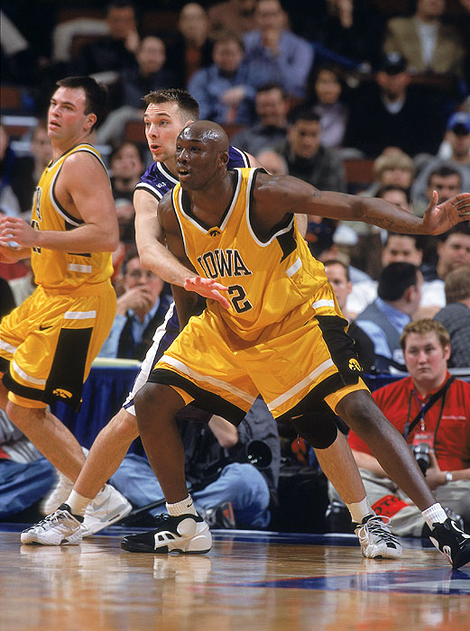 In 2001, Iowa's Reggie Evans led the nation in free throw attempts, free throws made and double-doubles during the regular season.  During the Big Ten tournament it was much of the same.  Evans set a tournament record with 51 rebounds during Iowa's run to the title game, and his last-second block of a Kirk Haston three-pointer sealed the championship for the Hawkeyes.