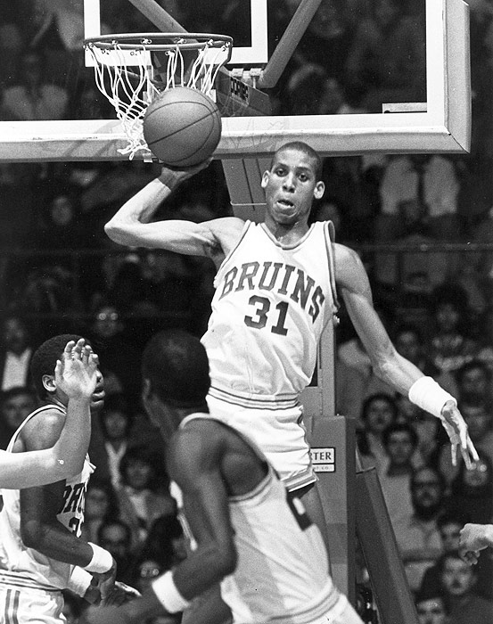 Following decades of NCAA dominance, UCLA basketball hit a rough patch in the '80s.  Luckily, the Bruins had a player like Reggie Miller to get them back in the swing of things.  He propelled UCLA back in to the tourney (after a four-year absence) with a brilliant Pac-10 tournament, averaging 27 points as the Bruins nipped the Washington Huskies for the conference crown.  Unfortunately, Miller couldn't sustain the success, and the Bruins lost in the second round of the tournament.