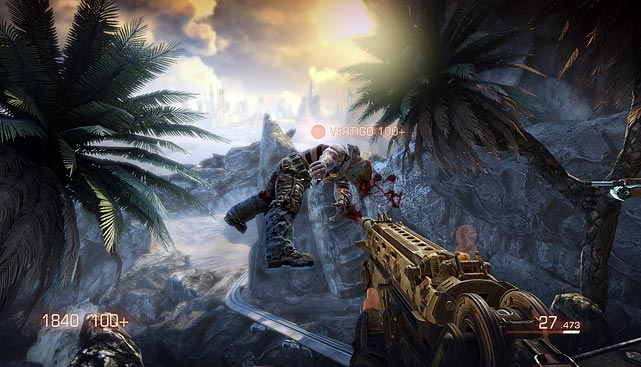 Bulletstorm is a somewhat cheesy first-person sci-fi shooter in which you take on the role of Grayson Hunt, a man fueled by a desire for revenge and a man bent on cracking a lot of juvenile jokes. As Hunt you'll fight your way across a former resort planet that's now overrun by mutants, monsters and other bad things. The good news is that all of those make for good targets.   The unique spin on combat in Bullestrom is the inclusion of an energy leash in your arsenal. The leash allows you to grab enemies and hurdle them in your direction or toss them into the air. The counter to the leash is the ability to kick an opponent away. Both actions happen in slow motion allowing you to do combos and add in fire from your traditional weapons to produce some very interesting takedowns.   And how you dispatch the opposition is tallied in skillshot points, which ultimately award creativity. Extra points are awarded for using the lush and varied environments, like leashing an enemy into a metal cactus. You use skillshot points to upgrade weapons and abilities. The whole scheme is actually very addictive and satisfying as you progress in the game.   Bullestorm features a multiplayer mode where you work in teams to pull off skillshots that are used to advance from one level to the next. It's not the most interesting mode after you play a few times. Unfortunately you can't play the campaign co-op, so in the end this game rests on the strength of single-player campaign.    Score: 8/10