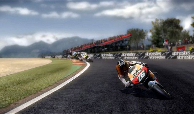 Racing fans wanting to gets their kicks on two wheels have been at the mercy of the MotoGP series for several years now. But fortunately the newest incarnation of the motorcycle racing franchise has returned with a much improved product. The centerpiece in MotoGP is the career mode that initially takes you through a season as you fight your way up the rankings to assemble a team and acquire sponsorships to get your onto better bikes. It's fairly standard fare but it works well and has a clean interface.   The big improvement is the improved handling of the bikes. The physics overall feel more accurate than last year's game, and more realistic in the differences between bikes classes, and after you tune and upgrade an existing bike.  MotoGP is friendlier to beginners with a full array of assists that will make the game's learning curve easier to digest. The graphics across the 18 tracks and the bike models in the game are pretty solid. The audio of the bikes is handled well as your progress from starter to expert rides. Multiplayer options are standard, but do include a co-op mode where you can tag team a race to capture the checkered flag.  Score: 8 out of 10