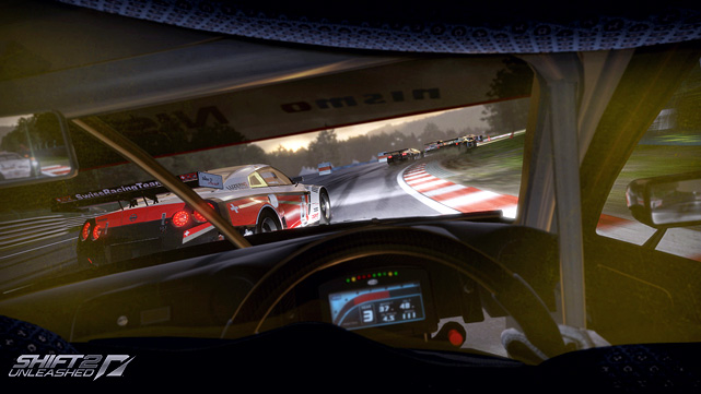 In the increasingly crowded field of racing games, Shift 2 lays claim to the invention of the helmet cam. This view adds a greater level of immersion as it tilts your view as you enter corners or make aggressive wheel movements. Racing from the helmet cam in a nighttime race is sure to get your racing juices flowing.  The career mode is fairly standard as your earn experience points that advance your driver level, opening new challenges and car classes. Race types include basic lap races, drift, time attack and endurance. Shift 2's track graphics and car models look great and the audio across all the vehicles is also vey well done. The game features 120 licensed cars and 35 tracks with 120 layouts.  EA has included the very cool Autolog feature from last year's  Need for Speed Hot Pursuit  that allows you and your console friends to keep track of and challenge each other's record times.   Score: 8.5 out of 10