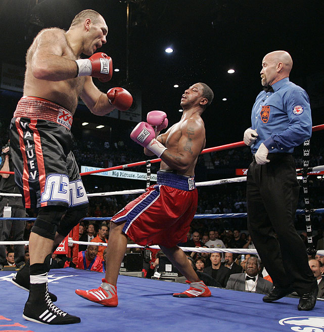 The 7-foot Russian ( left ) won a 12-round majority decision against WBA heavyweight champion John Ruiz in 2005 to become the tallest and heaviest champion in boxing history.