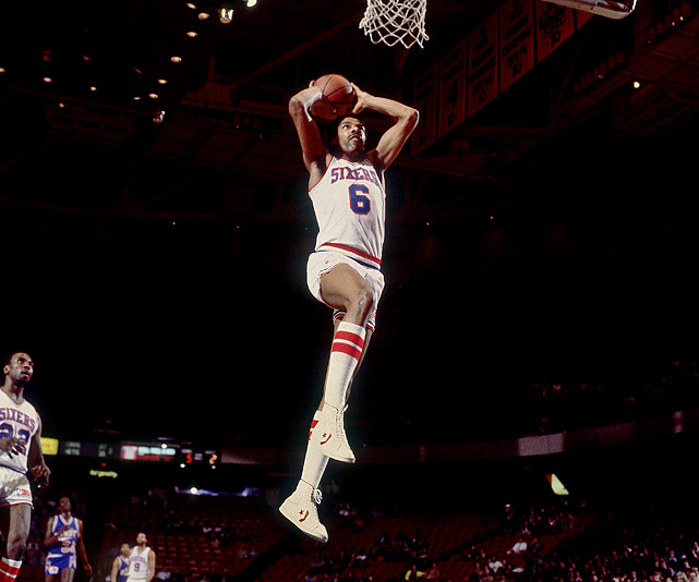 "The ABA and NBA champion was one of the few pro players to have his jersey retired by two franchises, and his acrobatic moves are still emulated by today's players (especially the foul-line dunk, which he made famous in the 1976 ABA All-Star Game dunk contest). But Dr. J. found his match at Rucker in a 1971 duel with Joe ""The Detroyer"" Hammond, who, according to legend, scored 50 points on Erving ... in a half."