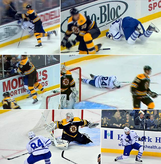 The Maple Leafs forward became the subject of discussion about player safety when he was dazed by two hits from Boston's Zdeno Chara and continued to play, scoring two goals. Toronto neurosurgeon Dr. Robert Tator later said he had observed signs of concussion in Grabovsky's wobbly behavior, but the Leafs insisted they followed the NHL's stringent safeguards in such instances. To its credit, the NHL is studying improved protocols for use possibly as early as next season.
