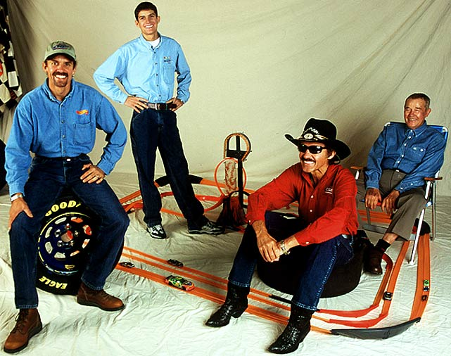 Between the four Pettys, Lee, Richard, Kyle and Adam amassed 263 victories in NASCAR. Lee won the first Daytona 500, in 1959. Richard won a record-seven Daytona 500s and a record-seven season points titles while Kyle finished a career-best fifth in the points race in 1992 and '93. Lee and his great grandson passed away during the span of one month in 2000, Lee from natural causes and Adam in a tragic crash during a practice run in New Hampshire.