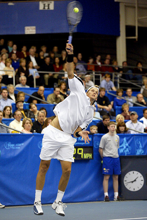 Sweden's Johansson reached 152 mph in 2004 and then 150 mph at the 2011 Davis Cup.