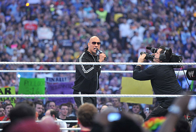 The Rock acted as guest host for WrestleMania XXVI in Atlanta, but made his presence felt in the main event between John Cena and The Miz when he gave Cena a Rock Bottom that allowed The Miz to get the victory. Also on the card, The Undertaker beat Triple H and Edge beat Alberto Del Rio.