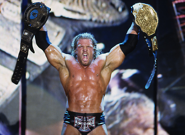 "Triple H stole the show at WrestleMania X8 when he defeated Chris Jericho to win the undisputed WWF Championship. Also on the card, Hulk Hogan made his WWF return against The Rock in a ""icon vs. icon"" match."