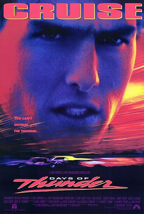 Much of this 1990 thrill ride is just ridiculous, stereotype and catchphrase stew wadded up like a race car and sent careening through the viewer's brain. But Tom Cruise's adventure as Cole Trickle has become part of the NASCAR cinematic pantheon, sprinkled with enough pseudo-sort-of true-life suggestions of plot line to titillate the uninitiated and amuse the true fan.