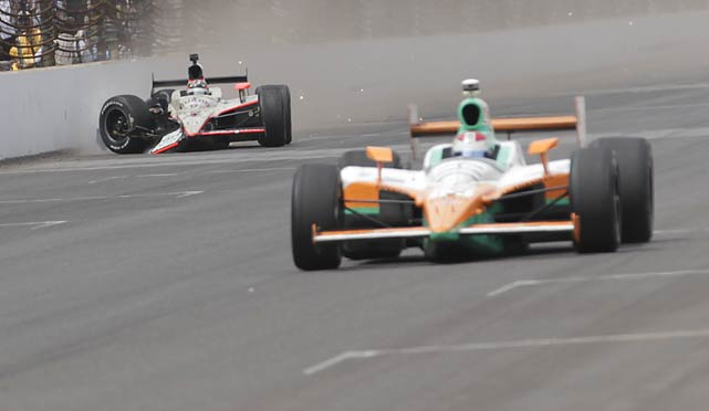 JR Hildebrand was one turn away from writing his name in the racing record books. Instead, he became an infamous part of  Indianapolis 500 lore. The rookie crashed into the wall just before the finish line and Dan Wheldon sped by to capture his second Indy 500.