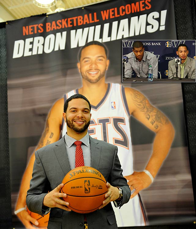Not to be outdone by the Knicks' signing of Carmelo Anthony, the Nets acquired their own All-Star. Rumors of Deron Williams' role in coach Jerry Sloan's exit were in the air, but the Jazz trading away their franchise player (for Devin Harris, Derrick Favors and a pair of draft picks) was still considered a surprise. Williams' contract expires after next season, and unlike Anthony, he hasn't signed an extension.