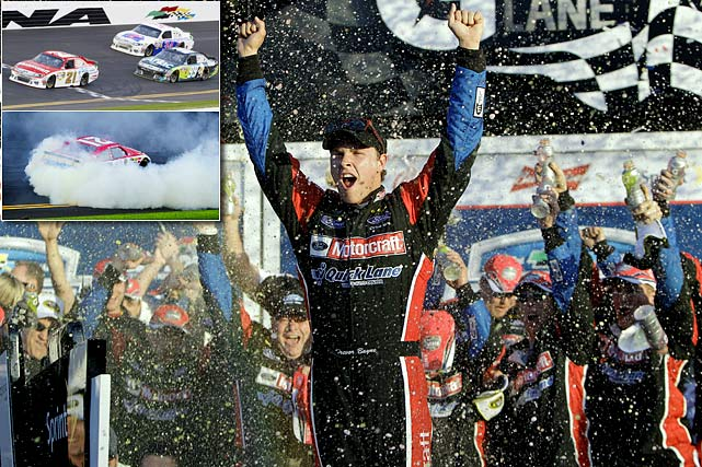 The 20-year-old rookie driver won NASCAR's most famous race in just his second career start. Bayne, a Tennessee native racing in the No. 21 Ford, held off the fleet of veteran drivers to take a race that included 74 lead changes. His win gave the Wood Brothers, the sport's oldest team, their first Daytona victory since 1976.
