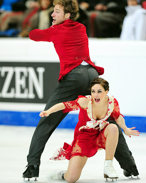 The ice-dance competition is seen as a two-team show, but Pechalat and Bourzat are clearly a medal favorite. The French team placed second at the Grand Prix Final and won the European Championships. Pechalat and Bourzat aim for their first worlds medal.