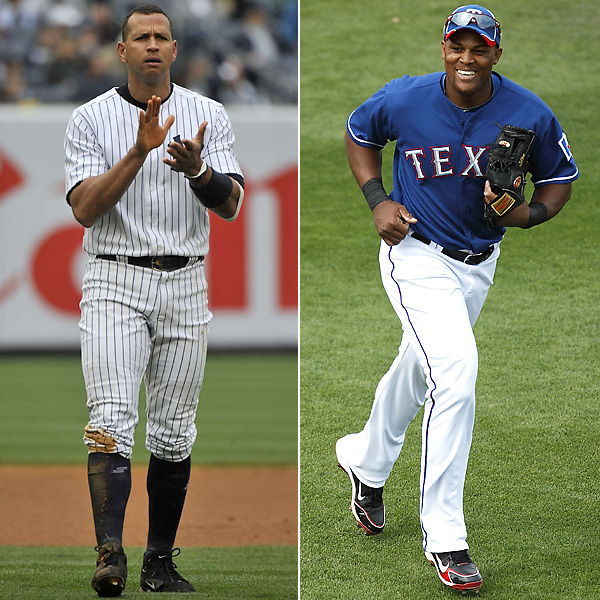 Alex Rodriguez  Batting Average: .270 Home Runs: 30 RBIs: 125 Runs: 74   Adrian Beltre  Batting Average: .321 Home Runs: 28 RBIs: 102 Runs: 84   Based on 2010 stats
