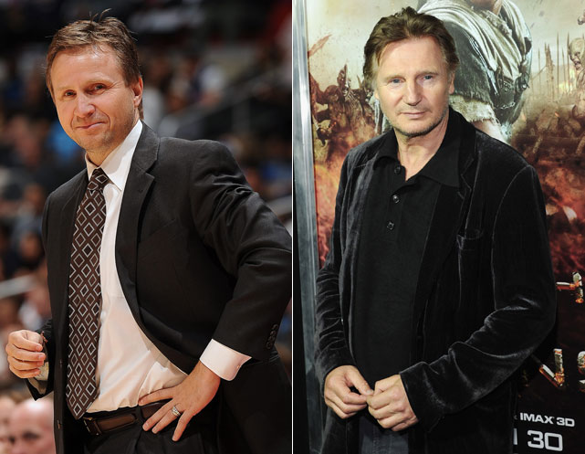 Scott Brooks : Oklahoma City Thunder coach  Liam Neeson : Actor