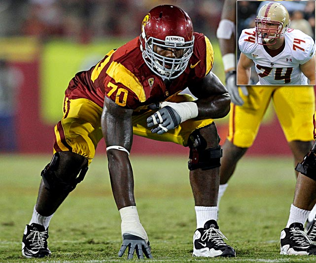 Will Pick:   Tyron Smith , T, USC  Should Pick:   Anthony Castonzo , T, Boston College   Dallas can take the long-term replacement for right tackle Marc Colombo here, and the choice is between the raw but athletically gifted 20-year-old (Smith) or the proven commodity who is the most versatile lineman in the draft (Castonzo). Smith's not a bad pick, but with a roaming QB in Tony Romo, who's subjected to lots of hits and coming off a season-ending injury, give me the surer thing, please.