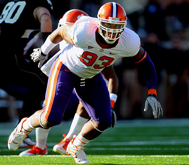Will Pick:   Da'Quan Bowers , DE, Clemson   Should Pick:   Da'Quan Bowers , DE, Clemson   He's a medical risk, and playing on the rug isn't good for a guy who might need microfracture surgery on his right knee. But two people who've done exhaustive work on Bowers told me they think he's a solid mid-first gamble. Jim Schwartz knows if he gets a young edge rusher to pair with Ndamukong Suh, his defensive front will be competitive with the league's best. But watch for Castonzo or Colorado tackle Nate Solder here.