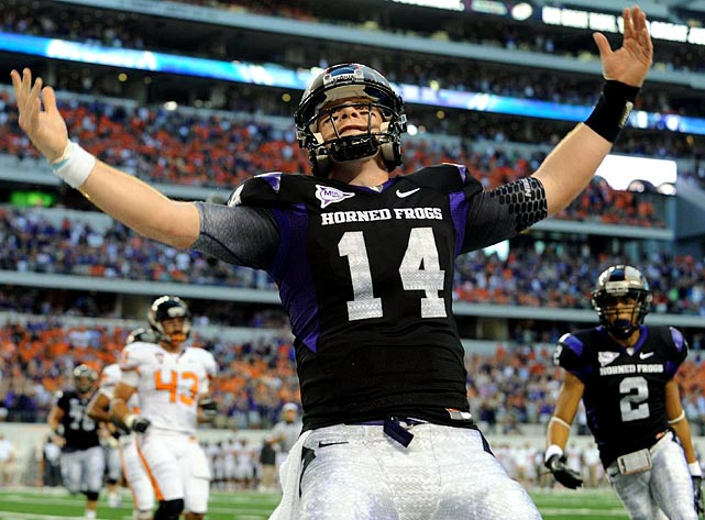 Will Pick:   Andy Dalton , QB, TCU    Should Pick:   Andy Dalton , QB, TCU   Of the 19 teams that worked out Dalton individually or hosted him for a visit, none was as exhaustive as the Dolphins, and I hear they liked what they saw. I could see them trading down -- they're desperate to recoup the second-round pick they lost in the Brandon Marshall deal -- and taking either Dalton or Arkansas QB Ryan Mallett later. With solid running backs available in the middle rounds, Miami won't go for Alabama's Mark Ingram here.