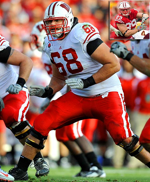 Will Pick:   Gabe Carimi , T, Wisconsin   Should Pick:   J.J. Watt , DE, Wisconsin   G.M. Scott Pioli would have loved to take Baylor's Phil Taylor, the best nose man in the draft, here, but Taylor's foot problems will make Kansas City turn elsewhere. If Mike Pouncey were still around at 21, he could be Pioli's man, to slot in as a long-term guard or center. But with Pouncey likely out of the picture, the Chiefs will turn to a Day One starting mauler at right tackle in Carimi, a safe guy at a need position from a good program.