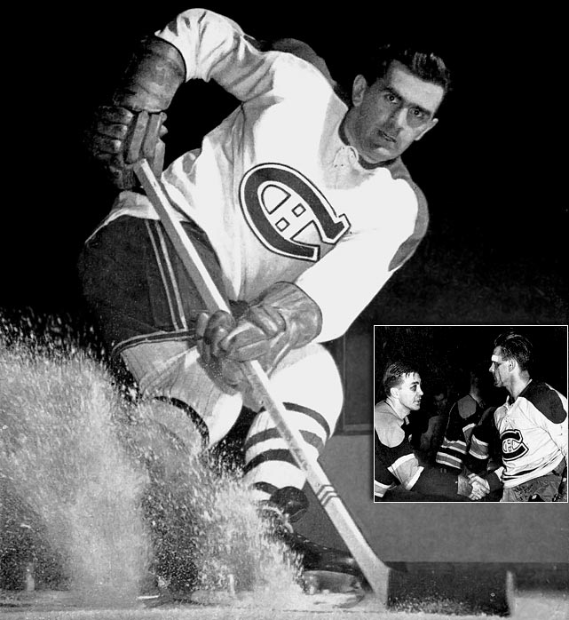 With blood still dripping down his face from an earlier hit that reportedly also gave him a concussion, Richard returned to the ice and scored the decisive goal in Game 7 of the semifinals vs. Boston. The tally is considered one of the greatest of all-time, and it sent Montreal to the Cup Final, where it was swept by Detroit.  Click here for Rocket Richard highlights.