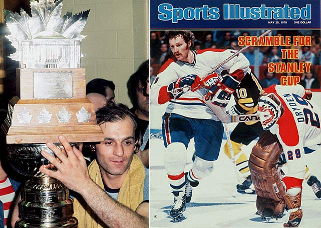 Before realignment moved the two teams to the same conference, they faced off in back-to-back Stanley Cup finals. Montreal swept Boston in 1977 and won the series four games to two in 1978 during its run of four-straight Cups. Winger Guy Lafleur won the Conn Smythe Trophy as playoff MVP in '77, defenseman Larry Robinson in `78.  Click here to watch the 1977 Game 4 highlights.    Click here for Larry Robinson in the '78 Cup final.