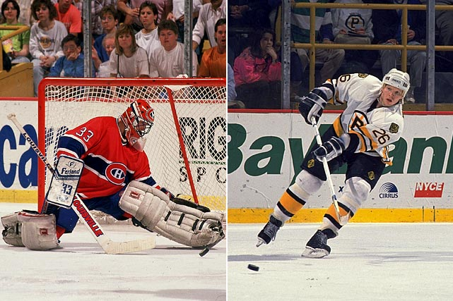 For the second time in three seasons, Boston eliminated Montreal in the playoffs. With 1:13 left in a tied Game 5 of the Adams Division finals, Bruins defenseman Glen Wesley put a rebound by Habs goalie Patrick Roy. Boston went on to win, 3-1, and close out the series. It was the third straight year that the winner of a Bruins-Habs postseason showdown had advanced to the Stanley Cup Final. In 1990, Boston fell to Edmonton in a rematch of their 1988 battle for the chalice. In 1989, the Montreal was bested by Calgary.  Click here to watch the highlights.